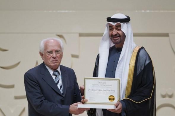 Goldemberg e Al Nahyan: reconhecimento mútuo.